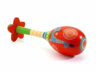 Rumbatök, Maracas (Djeco, 6008, Animambo állatos gyermek fa hangszer, 2-7 év)