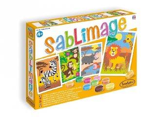 Sablimage homokszóró készlet, Afrikai állatok (SentoSphére, kreatív homokszóró készlet, 4-12 év)