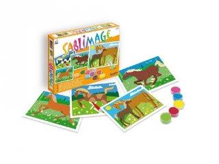 Sablimage homokszóró készlet, Lovak (SentoSphére, kreatív homokszóró készlet, 4-12 év)