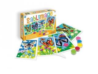 Sablimage homokszóró készlet, Pillangók, SentoSphére kreatív készlet (8813, 4-12 év)