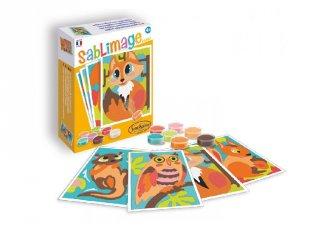 Sablimage mini homokszóró készlet, Erdei állatok, SentoSphére kreatív készlet (8103, 4-12 év)