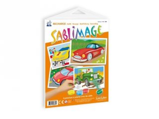 Sablimage pótlapok, Autók (SentoSphére, kiegészítő a sablimage kreatív homokszóró készleteihez, 4-12 év)