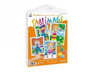 Sablimage pótlapok, Kislányok (SentoSphére, kiegészítő a sablimage kreatív homokszóró készleteihez, 4-12 év)