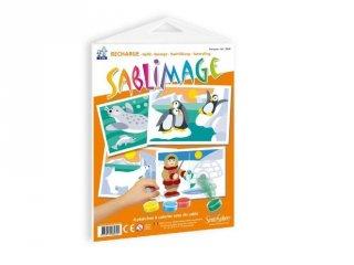 Sablimage pótlapok, Sarkvidék (SentoSphére, kiegészítő a sablimage kreatív homokszóró készleteihez, 4-12 év)