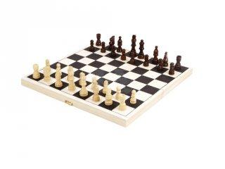Sakk készlet fából, kétszemélyes stratégiai játék (6-99 év)