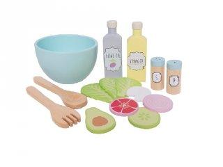 Saláta készítő szett, fa szerepjáték (Jabadabado, 3-7 év)