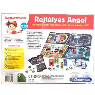 Sapientino rejtélyes angol, fejlesztő társasjáték (CLEM, 6-12 év)