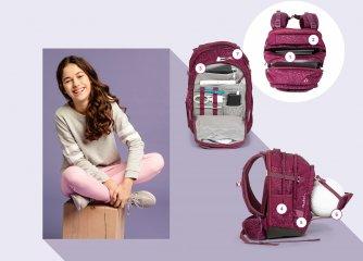 Satch Match ergonómikus hátizsák, Pink Crush (10-99 év)