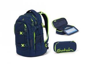 Satch Pack 2 részes, ergonómikus hátizsák szett felsősöknek, Toxic Yellow (10-99 év)