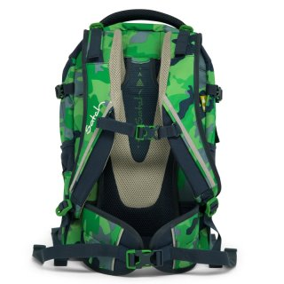 Satch Pack ergonómikus hátizsák, Green Camou (10-99 év)