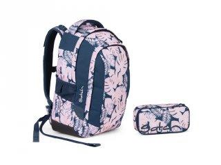 Satch Sleek 2 részes, ergonómikus hátizsák szett felsősöknek, Botanic Blush (10-99 év)