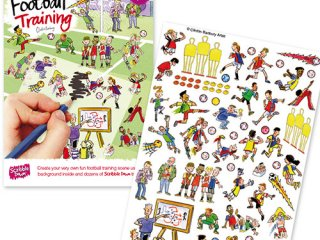 Satírmesék, Foci edzés (Scribble Down, Football Training, kreatív képalkotó játék, 3-10 év)