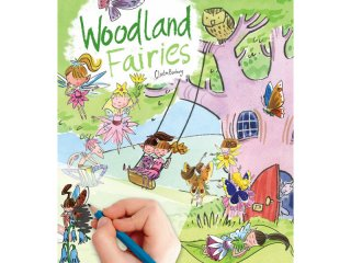 Satírozós füzet, Erdei tündérek (Scribble Down, woodland fairies, kreatív képalkotó játék, 3-10 év)