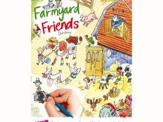 Satírozós füzet, Farm állatai (Scribble Down, Farmyard Friends, kreatív képalkotó játék, 3-10 év)