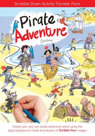 Satírozós füzet, Kalóz kaland (Scribble Down, Pirate adventure, kreatív képalkotó játék, 3-10 év)