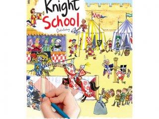 Satírozós füzet, Lovagi torna (Scribble Down, Knight School, kreatív képalkotó játék, 3-10 év)