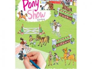 Satírozós füzet, Póni show (Scribble Down, Pony Show, kreatív képalkotó játék, 3-10 év)