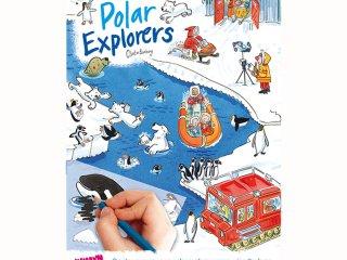 Satírozós füzet, Sarkköri felfedezők (Scribble Down, Polar Explorers, kreatív képalkotó játék, 3-10 év)
