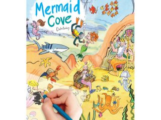 Satírozós füzet, Sellő öböl (Scribble Down, Mermaid Cove, kreatív képalkotó játék, 3-10 év)