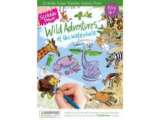 Satírozós füzet, Szafari kaland (Scribble Down, kreatív képalkotó játék, 3-10 év)