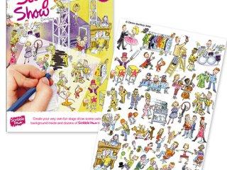 Satírozós füzet, Színpadi show (Scribble Down, Stage Show, kreatív képalkotó játék, 3-10 év)