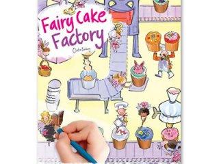 Satírozós füzet, Tündér sütigyár (Scribble Down, Fairy Cake Factory, kreatív képalkotó játék, 3-10 év)