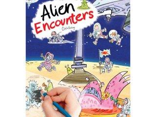 Satírozós füzet, Űrkaland (Scribble Down, Alien Encounters, kreatív képalkotó játék, 3-10 év)