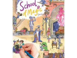 Satírozós füzet, Varázsló iskola (Scribble Down, School of Magic, kreatív képalkotó játék, 3-10 év)