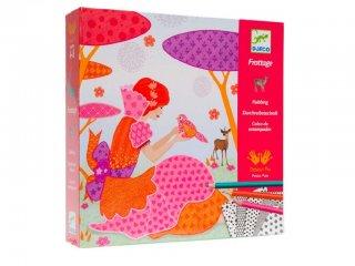 Satírozós színező készlet, Csodálatos ruháim (Djeco, 8985, kreatív készlet sablonnal, 6-10 év)