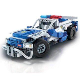 Science&Play Távirányítós rendőrautó, 2 az 1-ben tudományos építőjáték (CLEM, 8-14 év)