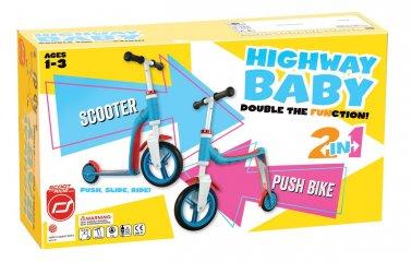 Scoot & Ride highway baby, 2 in 1 futóbicikli és roller, Sötétkék (1,5-3 év)