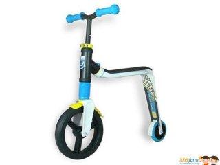 Scoot & Ride Highway freak, 2 in 1 futóbicikli és roller, Kék (3-6 év)
