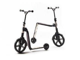 Scoot & Ride Highway gangster, 2 in 1 futóbicikli és roller, Fekete (5-99 év, 100 kg-ig)