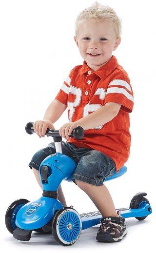 Scoot & Ride Highwaykick 1., 2 in 1 háromkerekű kismotor és roller, Kék (1-5 év)