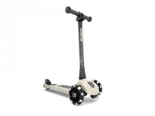 Scoot and Ride Highwaykick összecsukható LED roller, Ash (3-6 év)