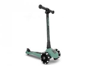 Scoot and Ride Highwaykick összecsukható LED roller, Forest (3-6 év)