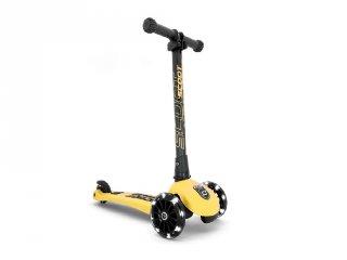 Scoot and Ride Highwaykick összecsukható LED roller, Lemon (3-6 év)