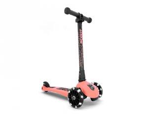 Scoot and Ride Highwaykick összecsukható LED roller, Peach (3-6 év)