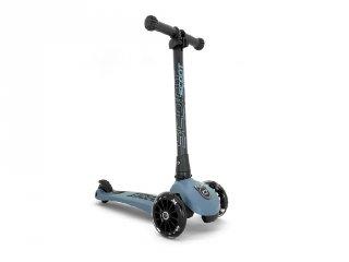 Scoot and Ride Highwaykick összecsukható LED roller, Steel (3-6 év)