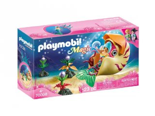 Sellő tengeri csiga gondolával, Playmobil szerepjáték (70098, 4-10 év)