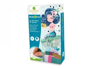 Sellők, mozaikkép készítő kreatív szett (Sycomore, 5-10 év)