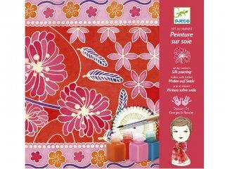 Selyemfestő, Japán kert (Djeco, 9851, kreatív textilfestő készlet, 8-99 év)