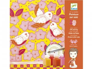 Selyemfestő, Madarak (Djeco, 9853, kreatív textilfestő készlet, 8-99 év)