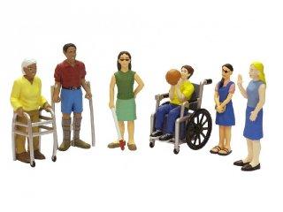 Sérült emberek, 6 db-os figurakészlet (miniland, szerepjáték, 3-9 év)