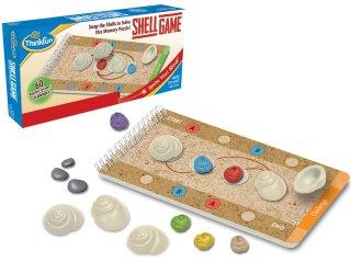 Shell Game, modern Itt a piros! Hol a piros? (Thinkfun, 33661, egyszemélyes, kagylócserélgetős logikai játék, 8-99 év)