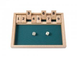 Shut the box, Számok felbontása (Bigjigs, logikai fa társasjáték, 3-7 év)