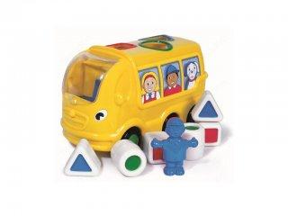 Sidney, a hátul pakolós iskolabusz (Wow Toys, formaberakó bébijáték, 1-5 év)