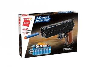 Sivatagi sas pisztoly 10 db szivacs tölténnyel, Lego kompatibilis építőjáték készlet (QMAN, 6005, 6-12 év)