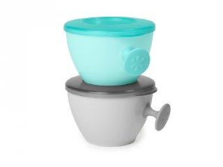 Skip Hop ergonómikus tálka 2 db, baba etetés (kék, szürke)