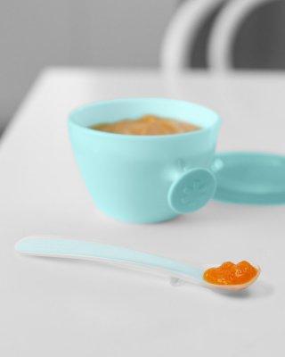 Skip Hop puha kanál 2 db, baba etetés (kék, szürke)